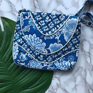 Vera Bradley Blue and White Slim Crossbody Bag